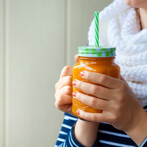 Pumpkin smooth for beautiful skin