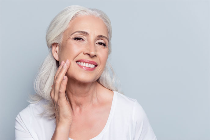 Aging with beautiful skin